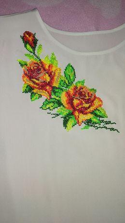 Белая блузка, рубашка, вышиванка.