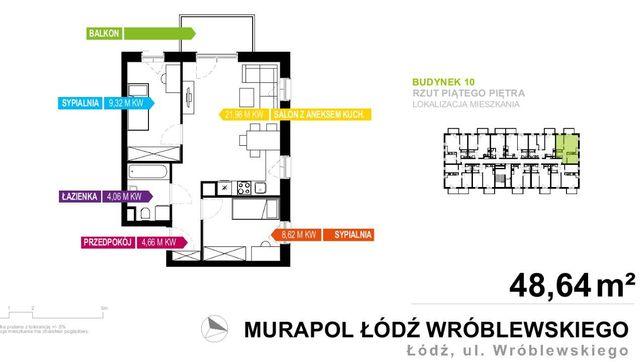 Sprzedam mieszkanie, 49 m2- stan deweloperski