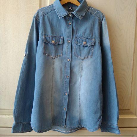 Джинсовая рубашка для девочки Idexe, размер 152