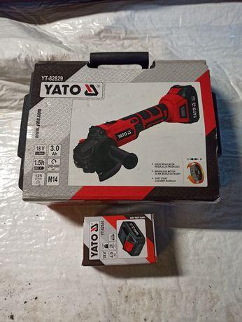 Szlifierka kątowa Yato 18V 125mm 3baterie bezszczotkowa