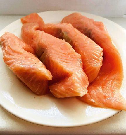 Рыбка красная, филе; балык