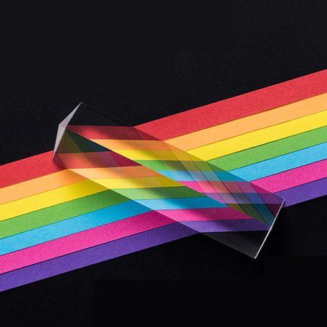 Треугольная стеклянная оптическая призма 25x25x80 мм