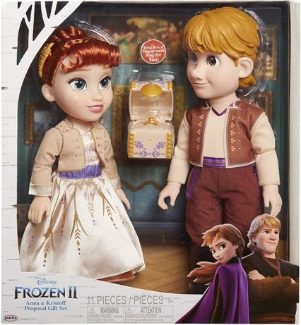 Disney Frozen 2 Anna & Kristoff . Набор кукол ,35см. Холодное сердце 2