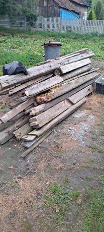 Drewno opałowe z rozbiórki.