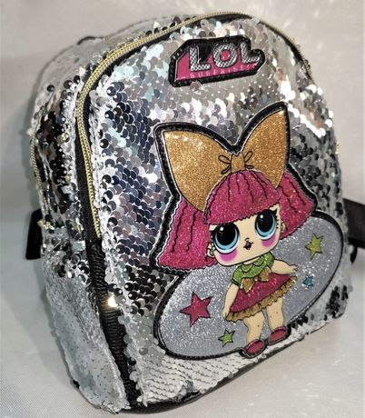 Новый рюкзачек для девочки с паетками и куколкой Lol