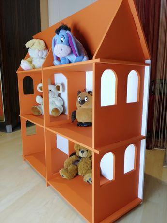 Кукольный домик. Домик для Барби. Полка для игрушек. Домик для Лол.