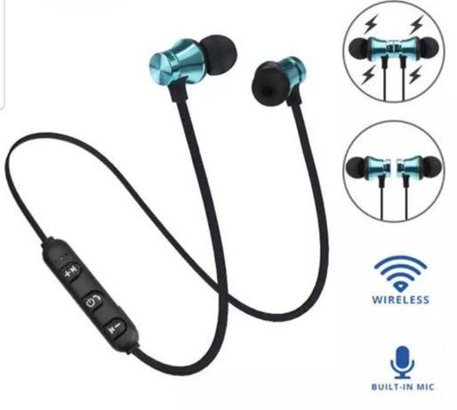 Nowe bezprzewodowe słuchawki Bluetooth 4.2 sportowe magnetyczne