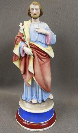 Św. JÓZEF figura BISKWIT porcelana 36 cm