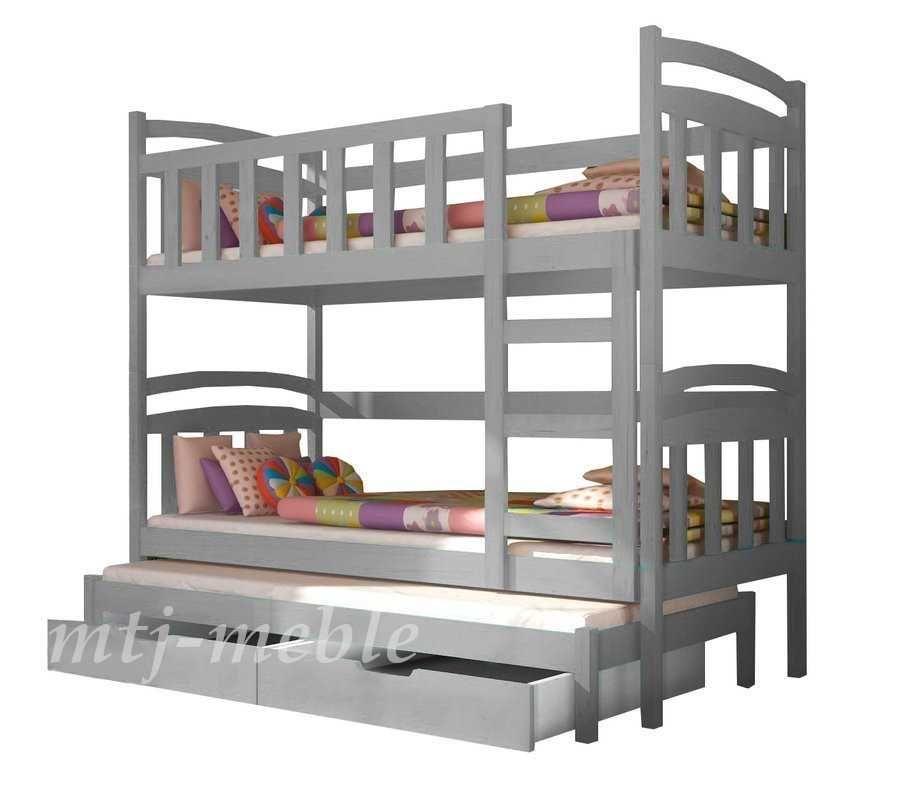 Łóżko Dziecięce 3 Osobowe Dawid ! Nowoczesne Kolory Materace Gratis