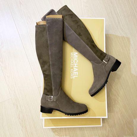 Женские Сапоги Michael Kors , не COACH натуральная кожа жіночі чоботи
