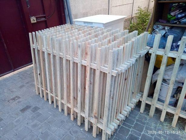Штакетник деревянный. Забор.