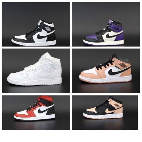Унисекс кроссовки кожаные Nike Air Jordan 1 Retro High найк джордан