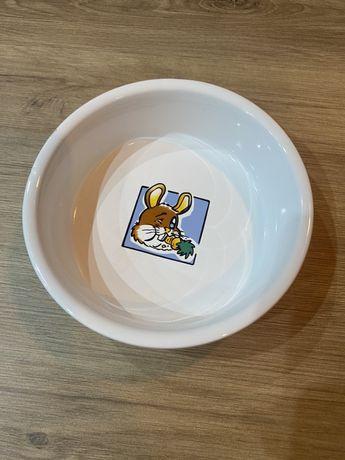 Miseczka miska ceramiczna dla królika gryzinia