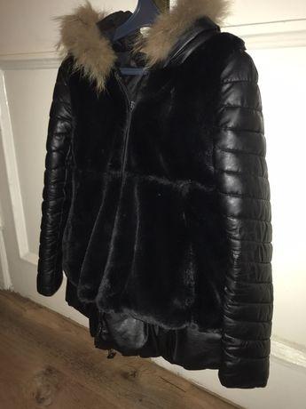 Куртка черная, женская, осень-зима