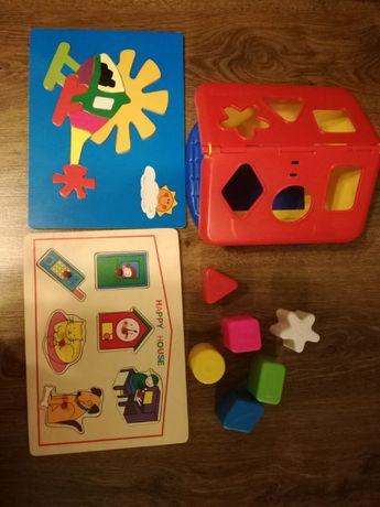 Zabawki dydaktyczne, puzzle drewniane