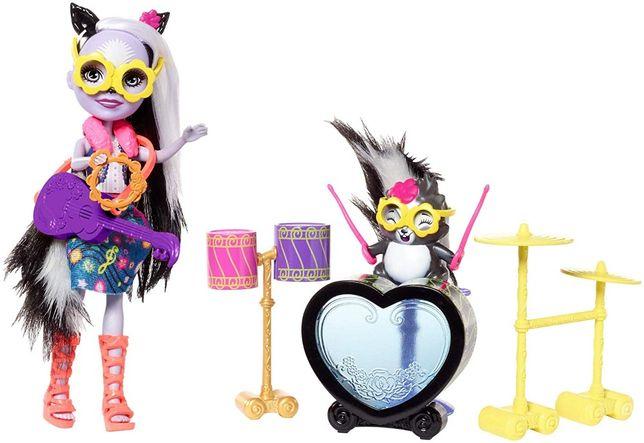 Кукла Энчантималс набор Enchantimals Скунсик Сейдж Классные барабаны