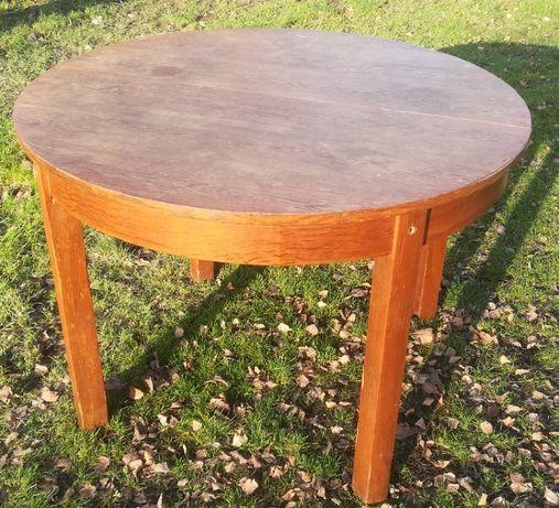 Stół drewniany okrągły rozkładany