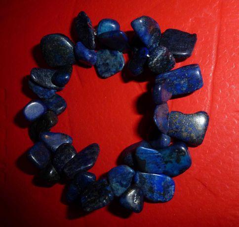 Браслет из натурального камня - лазурит.