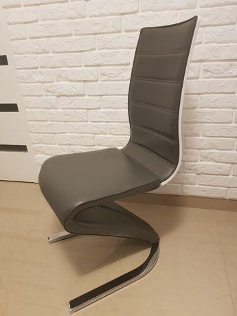 Krzesła nowoczesne szaro białe signal