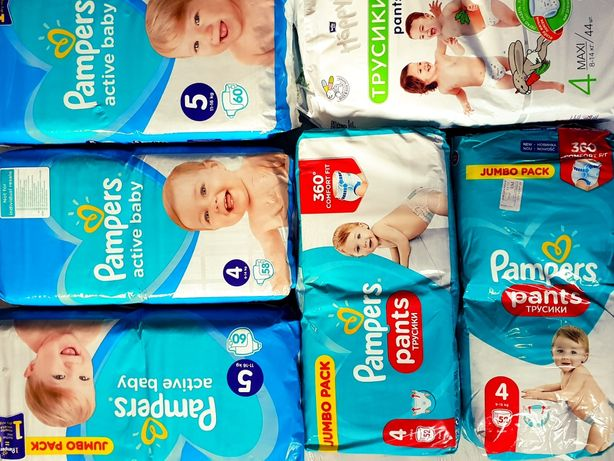 Pampers. Подгузники Pampers active baby 4, 5 ,6 Польша