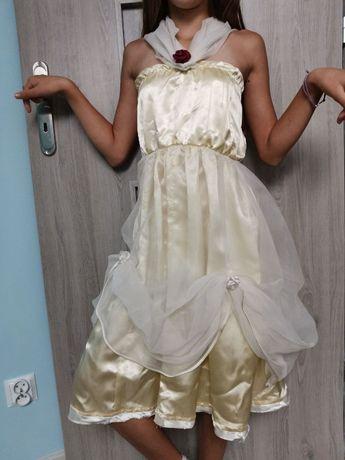 Sukienka karnawał, przedstawienie, syrenka i Bella rozm 128