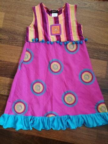Kolorowa sukienka dla dziewczynki ok. 128-135