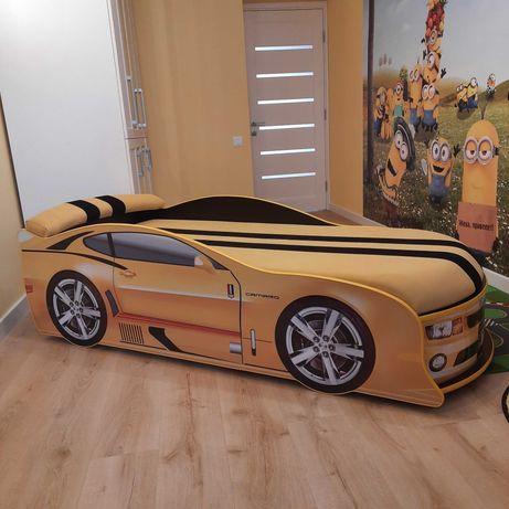 БОЛЬШОЕ! спальное место - Детская кровать машина Шевроле Камаро желтая