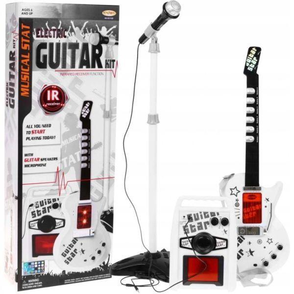 Gitara Dla Dzieci Elektryczna Wzmacniacz Mikrofon Hk-9010D