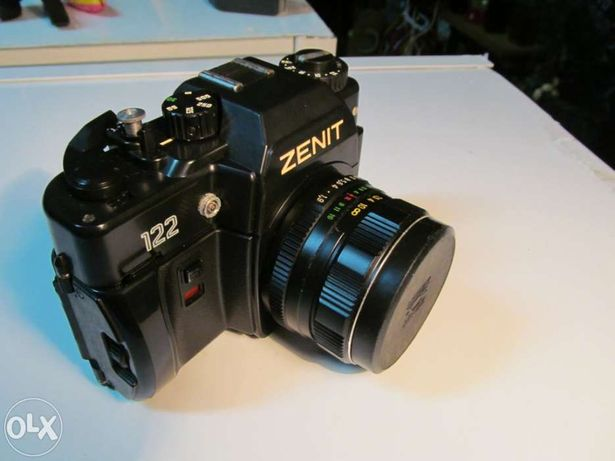 Máquina fotográfica óptica reflex zenit 122