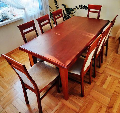 Stół rozsuwany 180x90 cm + 8 krzeseł