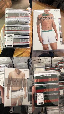 Zestaw bielizny Plein Gucci Lacoste 3 pac bokserki meskie