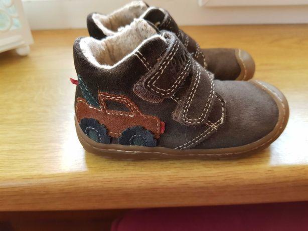 Buty dziecięce skórzane lekko ocieplone jesień/zima