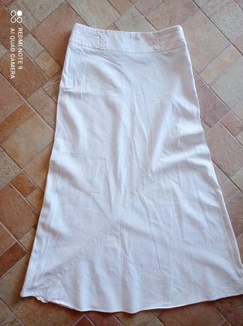 Długa lniana spódnica 38-40