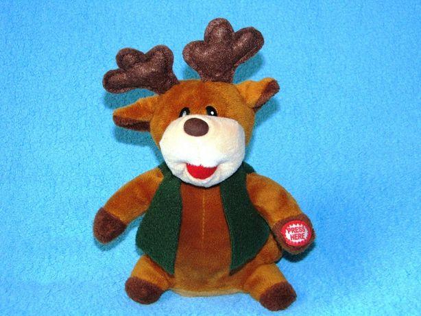 Śpiewający renifer świąteczy renifer Boże Narodzenie
