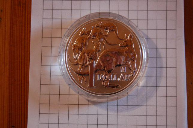 Kolekcjonerska moneta srebrna 2019 $1 Mob of Roos privy mark!