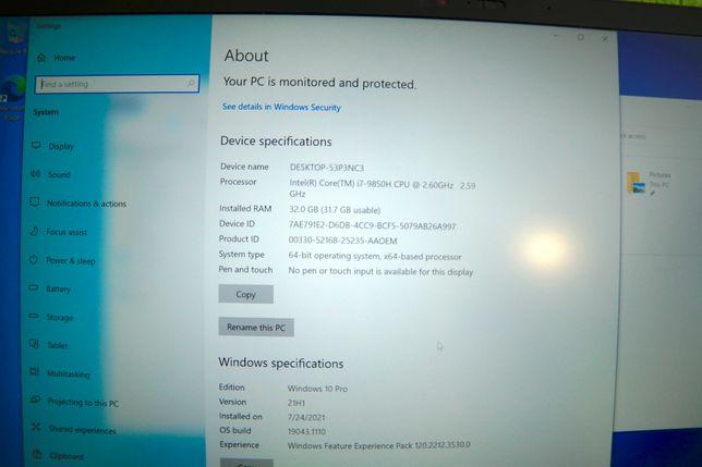 Thinkpad X1 Extreme Gen 2 (4k, i7-9850H, 32 RAM, 1Tb SSD, GTX 1650i)