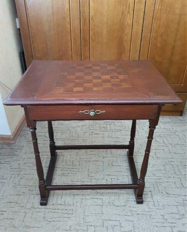 Столик антикварный шахматный