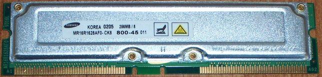 Samsung MR16R1628AF0-CK8 ( 256Мб Rambus RDRAM PC800 non-ECC RIMM 45нс)