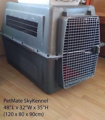 Transporter dla psa lotniczy samolot klatka kennel Petmate kojec IATA