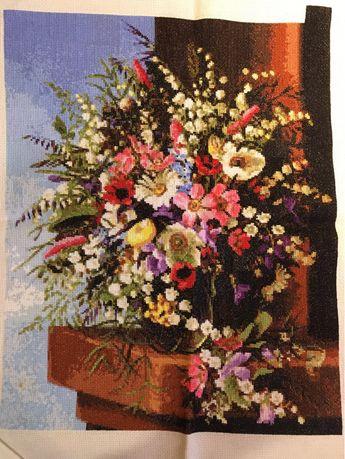 Картина Весенний букет,вышивка крестиком