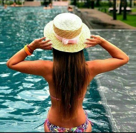 Соломенная шляпка-конотье