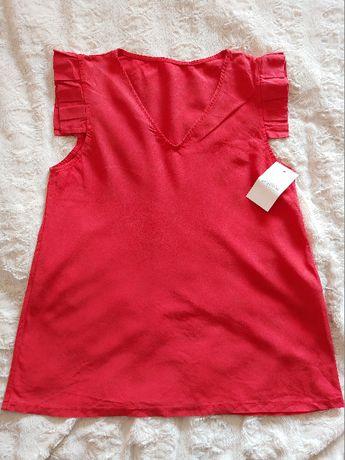 Butik Latika nowa bluzka w kolorze czerwonym z lyocellu one size