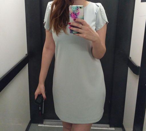 Серое платье goldi