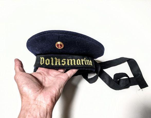 Винтажная безкозырка фуражка volksmarine морских сил ГДР германии
