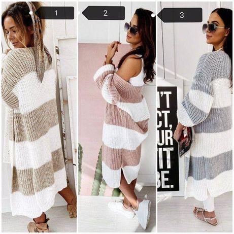 Женский вязаный кардиган, легкий женский свитер размер 42-48 рр