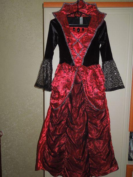Платье новогоднее дет. нарядное фирмы George розы, верх бархат.