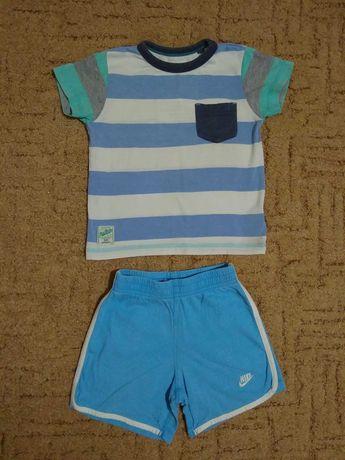 Набор для мальчика шорты футболка 1-3 года