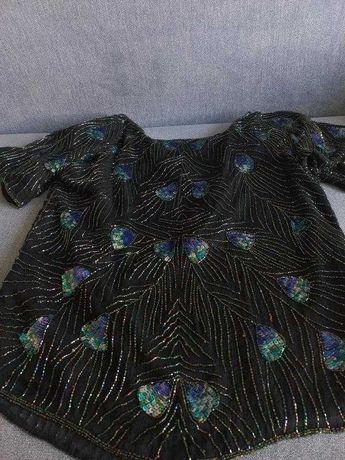 Нарядная блуза шелк 100 расшитая бисером  MARKS & SPENCER