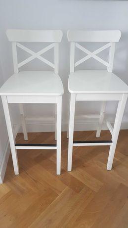 Ikea INGOLF stołek barowy hoker biały, 74 cm
