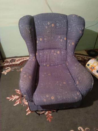 Fotel wygodny, niebieski, z tkaniny